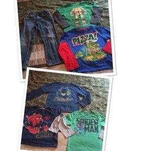 Other - Boys 5T bundle superheroes & Ninja turtles